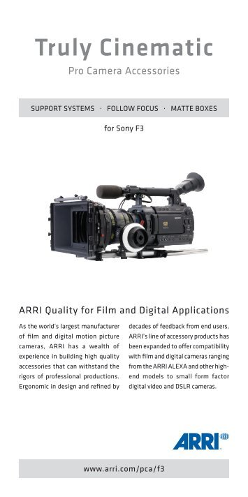 2012 04-10 ARRI Pro Camera Accessories for ... - Video Cine Import