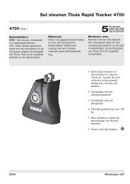 Set steunen Thule Rapid Tracker 4700 - PartsPoint