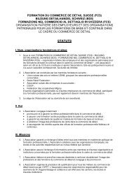 STATUTS - Bildung Detailhandel Schweiz (BDS)
