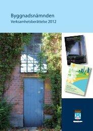Byggnadsnämnden verksamhetsberättelse 2012 - Västerås stad
