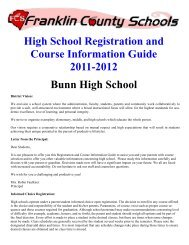 High School Registration and Course Information Guide 2011