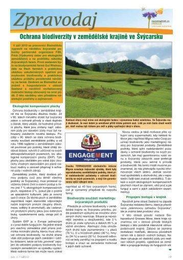 Ochrana biodiverzity v zemědělské krajině ve ... - Bioinstitut, o.p.s.