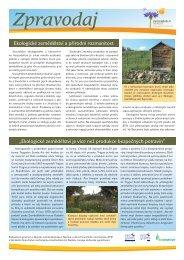 Ekologické zemědělství a přírodní rozmanitost ... - Bioinstitut, o.p.s.