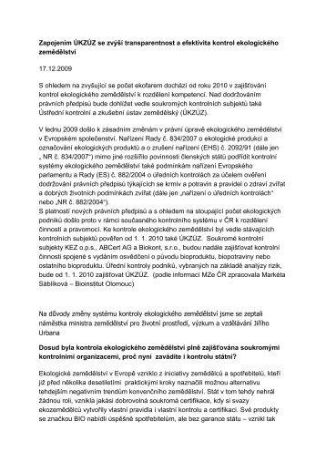Článek ZDE - Bioinstitut, o.p.s.