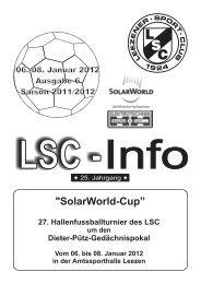LSC Info Ausgabe 6 Saison 2011/2012 - Leezener SC
