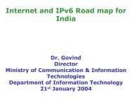 Internet and IPv6 Road map for India