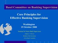Core Principles for Effective Banking Supervision - World Bank