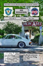 Volume 37 Issue 5, May 2010 - Maumee Valley - Porsche Club of ...