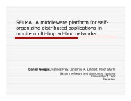 SELMA: A middleware platform for self- organizing distributed ...