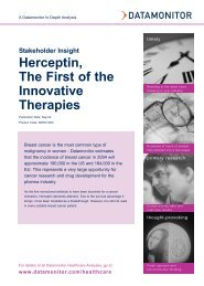 Stakeholder Insight: Herceptin, The First of the ... - Datamonitor