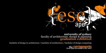 Invitation - Faculty of Architecture, Design and Planning - The ...