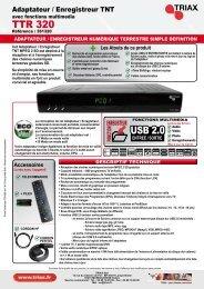 TTR 320 USB 2.0 - Triax