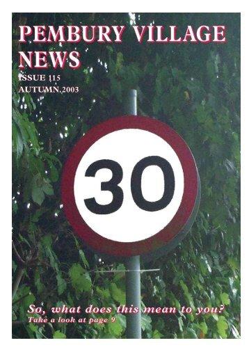 Issue 115 - the Pembury Village Website