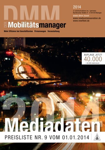 PREISLISTE NR. 9 VOM 01.01.2014 - DMM Der Mobilitätsmanager