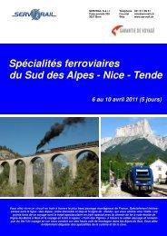 Spécialités ferroviaires du Sud des Alpes - Nice - Tende - SERVRail