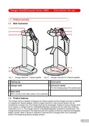 Charger Stand/Carousel Series 4880 ... - POCD Scientific