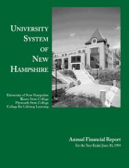 1999 - USNH Financial Services - University System of New ...