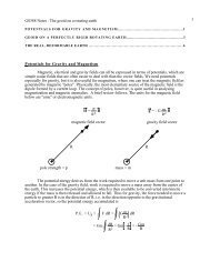 The geoid on a rotating earth 1 Potentials for Gravity and Magnetism ...