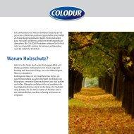 Warum Holzschutz? - Colodur