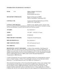 BPW DBM Item 9-IT (217KB) (PDF) - DoIT Website