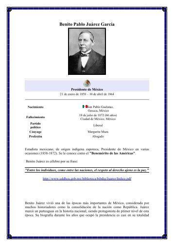 Benito Pablo Juárez García - México Diplomático