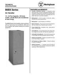 B6BX Series Air Handler - Nordyne