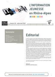 Newsletter 20.indd - centre ressources information jeunesse rhone ...