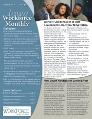 October 2010 - Iowa Workforce Development