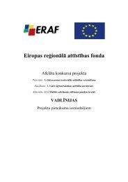 Eiropas re ion ālā attīstības fonda - ES fondi