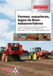 Formen, separieren, legen im Beet- Anbauverfahren - bei Grimme
