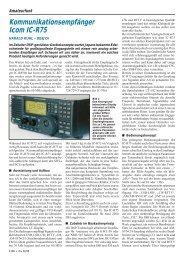 Kommunikationsempfänger Icom IC-R75
