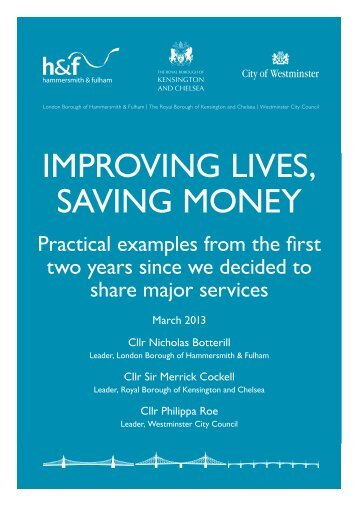 improving lives, saving money - Westminster City Council