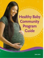 Healthy Baby Community Program Guide - Government of Manitoba