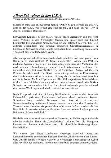 In den USA.2009 doc - Albert-Schweitzer-Freundeskreis Dresden