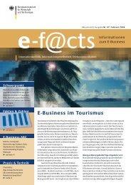 Download der neusten e-f@cts Broschüre 02/06 ... - Web-Tourismus