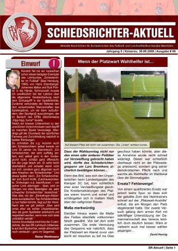 SR-Aktuell 9 - Fußball und Leichtathletik Verband Westfalen eV