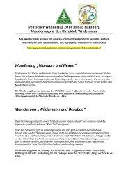 Deutscher Wandertag 2014 - Herzlich willkommen beim Harzklub ...