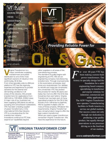Oil & Gas.pdf - Virginia Transformer Corp