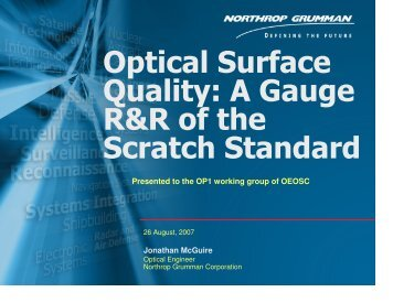 Gauge RR Results - Optics and Electro-Optics Standards Council ...