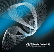 2008 Yılı Faaliyet Raporu - Arçelik