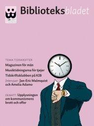 tidskrifter - Biblioteksbladet