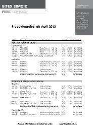 Produktepreise ab April 2013