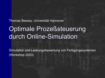 Optimale Prozeßsteuerung durch Online-Simulation