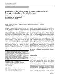 Quantitative X-ray measurements of high-pressure fuel sprays from ...