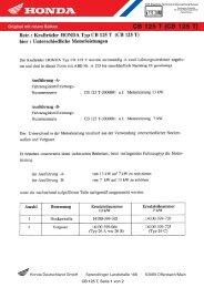 CB125T (pdf, 122 KB) - Honda