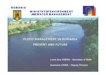 flood management in romania present and future - INBO