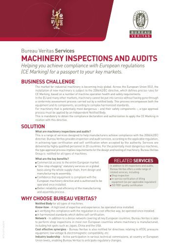 MACHINERY INSPECTIONS AND AUDITS - Bureau Veritas
