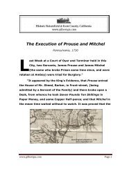 The Execution of Prouse and Mitchel - Gilbertgia.com