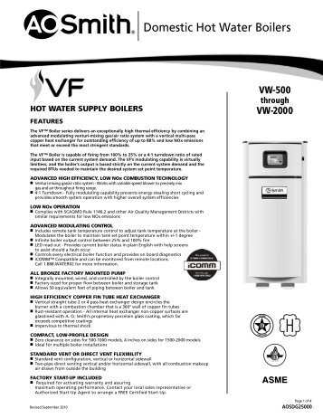domestic hot water boilers ao smith water heaters