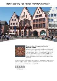 Reference City Hall Römer, Frankfurt/Germany - ESSER by Honeywell